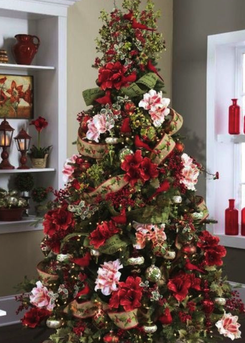 real christmas tree flowers